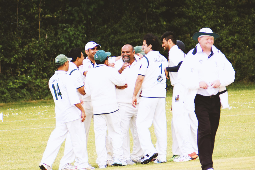 Younus AlGohar YRG Eagles celebrating after taking a wicket